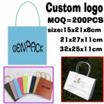 custom printed   logo gift kraft paper bag/Recyclable brown kraft paper bag/white kraft paper bag