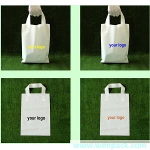 custom shopping handle plastic gift bag/plastic packaging bag for garment/printed LOGO promotion