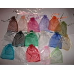 custom candy and jewelry drawstring organza pouch
