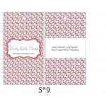 custom printed logo apparel price paper gift swing tag/clothing hang tag