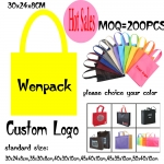 custom printed logo gift non woven bag/promotion hand handle non-woven cloth bag for fashion