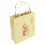 brown printed Kraft Paper Gift Bag