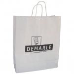 white Shopping/Carrier Kraft Paper Gift Bag