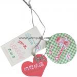 clothing hang tag for garment