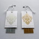 custom printed  hang tag for clothing