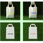 custom shopping handle plastic gift bag/plastic packaging bag for garment/printed LOGO promotion