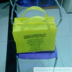 custom printed logo gift non woven bag/packaging bag with zip