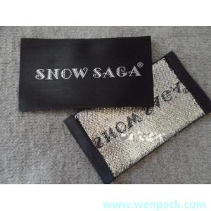custom printed garment woven label