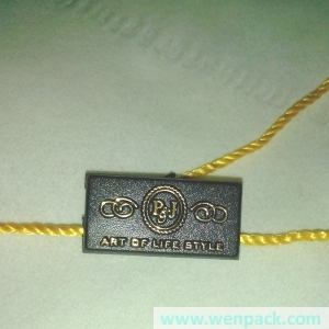custom printed plastic tag and seal tag for clothes rope